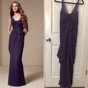 👗 V Neck Sleeveless Chiffon Column Dress